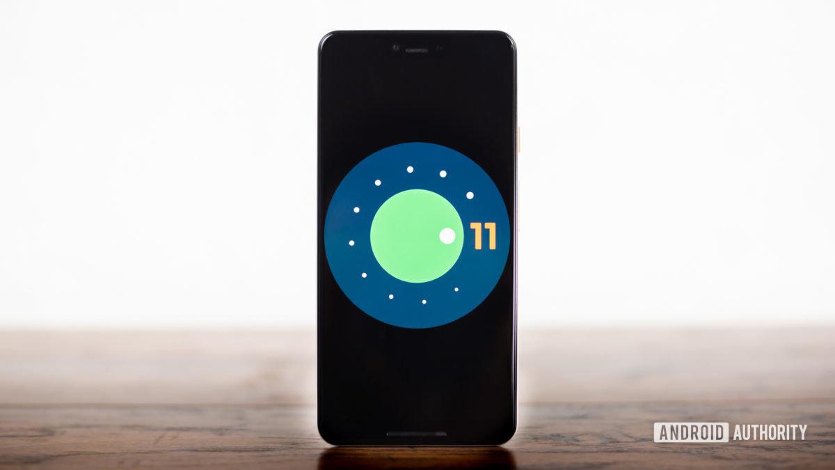 Android 11 logo stock photo 3