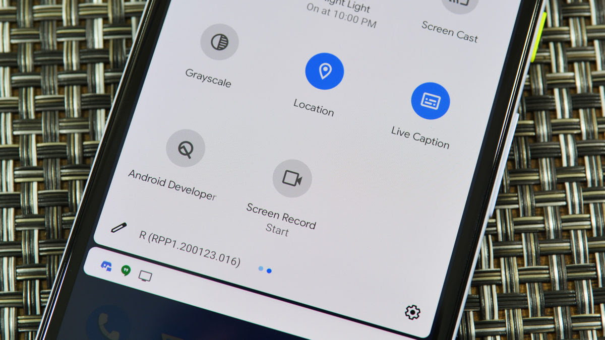 Screen Record button Android 11